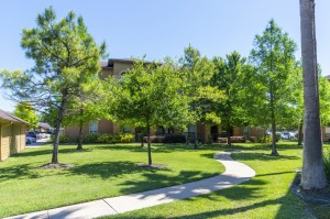 Two Bedroom Apartments for Rent in Northwest Houston, TX -Exterior Building with Trees